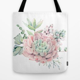 Pink Succulents by Nature Magick Tote Bag