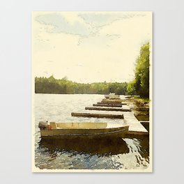 Lily Bay Docks, Maine Canvas Print