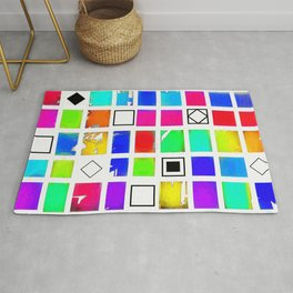 Square and Rhombus Rug