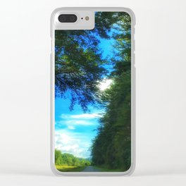 Blue Ridge Parkway No.1 Clear iPhone Case