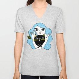 Cat Friend Forever (Blue Version) Unisex V-Neck