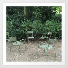 Chairs in the Luxembourg Gardens Art Print