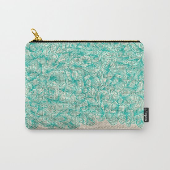 Abstract Pattern – Turquoise Carry-All Pouch