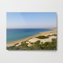 Golden Beach in Cyprus Metal Print
