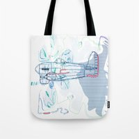 underwater Tote Bags featuring Underwater by March Hunger