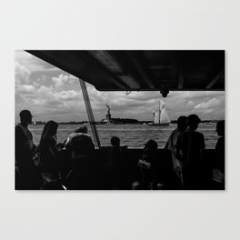Ferry, Liberty & Silhouettes Canvas Print