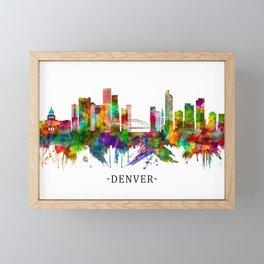 Denver Colorado Skyline Framed Mini Art Print