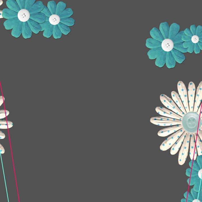 Gray,blue flowers Leggings