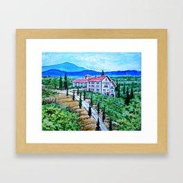 Italian Winery Framed Art Print