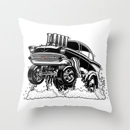 57 Gasser REV-3 BLACK Throw Pillow