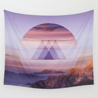 spires Wall Tapestries featuring Tri-Spires by Adam Egginton