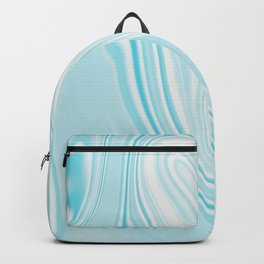 Blue Turquoise Liquid Marble Backpack