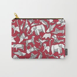 origami animal ditsy red Carry-All Pouch