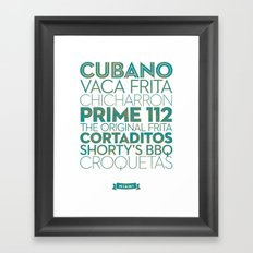 Miami — Delicious City Print Framed Art Print