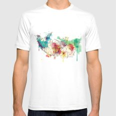 Paradise Mens Fitted Tee MEDIUM White