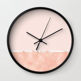 Peaches and cream marble Wall Clock