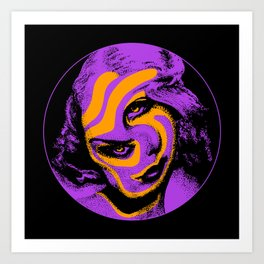 Warped Beauty Purple and Orange Art Print