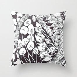 Zen Doodle Graphics zz13 Throw Pillow