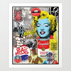 Pop Art Montage Art Print