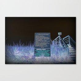 Beach Access And Rules Canvas Print