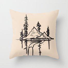 Abstract Landscpe II Throw Pillow