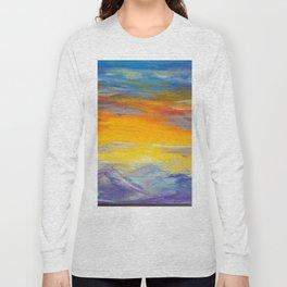 Sunset Meditations of Peace by Ainé Daveéd Long Sleeve T-shirt