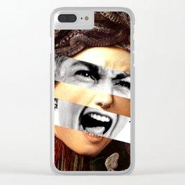 Caravaggio's Medusa & Psycho Clear iPhone Case
