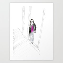 Biro Portrait of a Londoner Art Print
