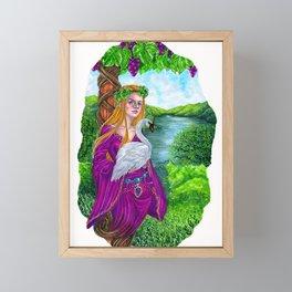 The vine tree sign Framed Mini Art Print