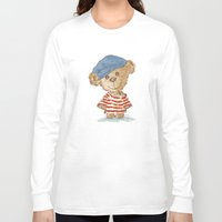 teddy bear Long Sleeve T-shirts featuring Teddy bear by Toru Sanogawa