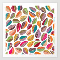 Leaf Colorful Art Print