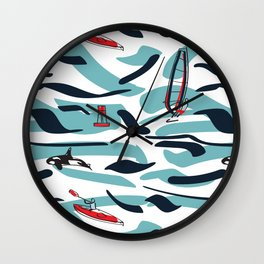 A Day on the Water Wall Clock
