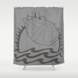 The Smuggler's Brand Shower Curtain