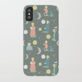 Everybody...off to bed - Childrens book illustration/Pattern iPhone Case
