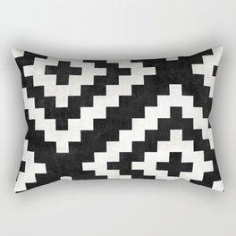 Urban Tribal Pattern No.17 - Aztec - Black and White Concrete Rectangular Pillow