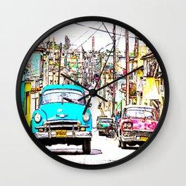 Cuba , calle de La Habana  ( Cuba , Havana street ) Wall Clock