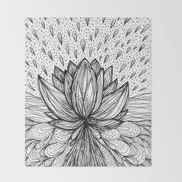 The Immortal Lotus Throw Blanket