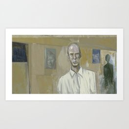 An Awkward Man Art Print