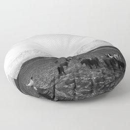 The herd Floor Pillow