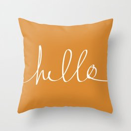 Hello, Pumpkin Throw Pillow