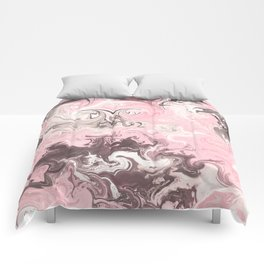 Modern pastel colors abstract watercolor marble Comforters