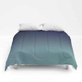 NIGHT SWIM - Minimal Plain Soft Mood Color Blend Prints Comforters