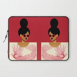High Bun Postcard Girl Laptop Sleeve