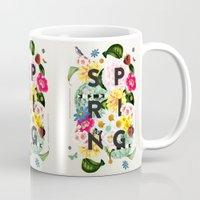 spring Mugs featuring SPRING by Dawn Gardner