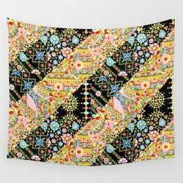 Crazy Patchwork Triangles Wall Tapestry