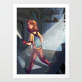 Farah Left Art Print