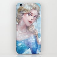 frozen elsa iPhone & iPod Skins featuring Frozen Elsa by x3uu