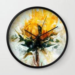 Born in Sunflower Wall Clock