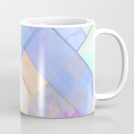 Geometric Watercolor Oranges and Blues Coffee Mug