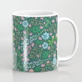 Violet clover and lupine among cornflowers and herbs Coffee Mug
